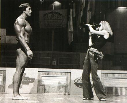 Съемки фильма Pumping Iron на Олимпии-1975 в Южной Африке