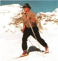Арнольд Шварценеггер катается на лыжах